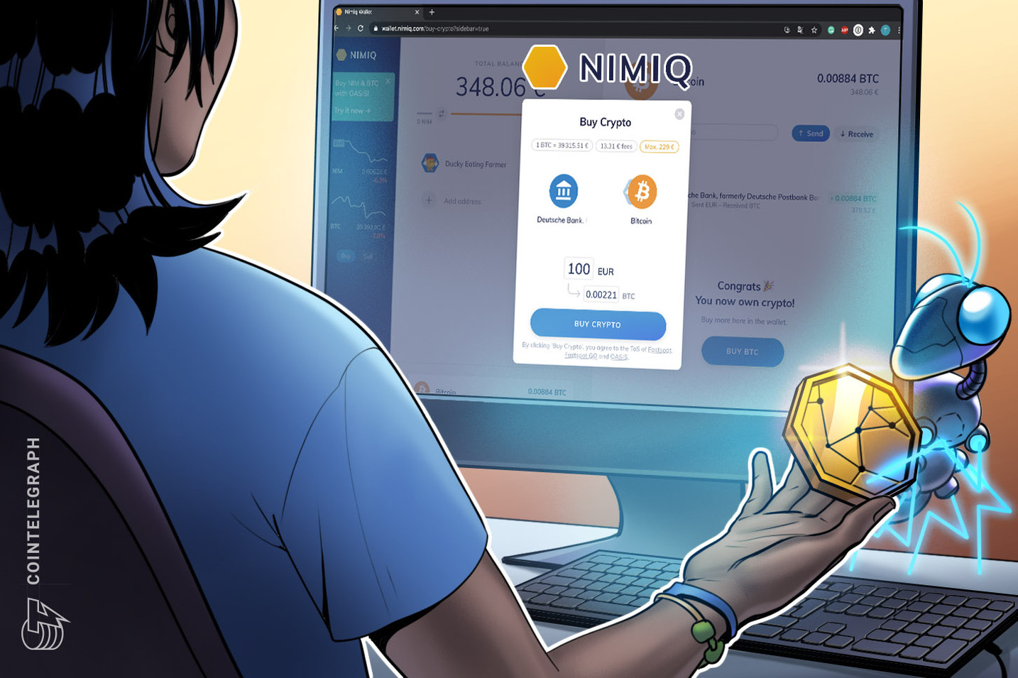 Now, you can buy crypto in minutes — directly from your bank account